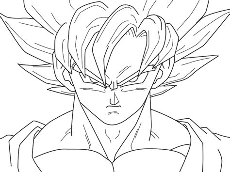 free goku fase 3 coloring pages