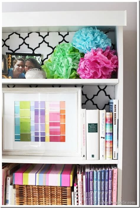 how to decorate a bookshelf decorating with ribbon using ribbon to decorate
