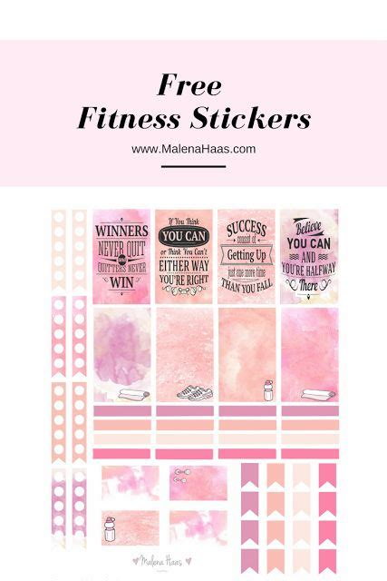 free printable workout planner stickers 17 best images about filofax planners on pinterest