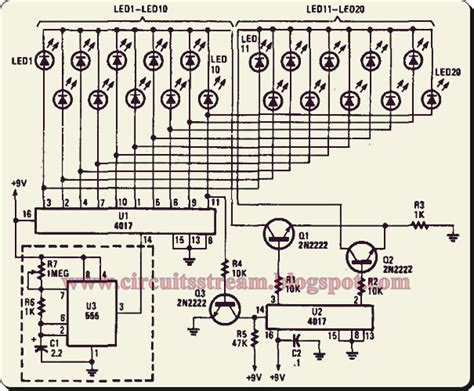 light chaser circuit diagram simple light chaser i circuit diagram electronic circuit