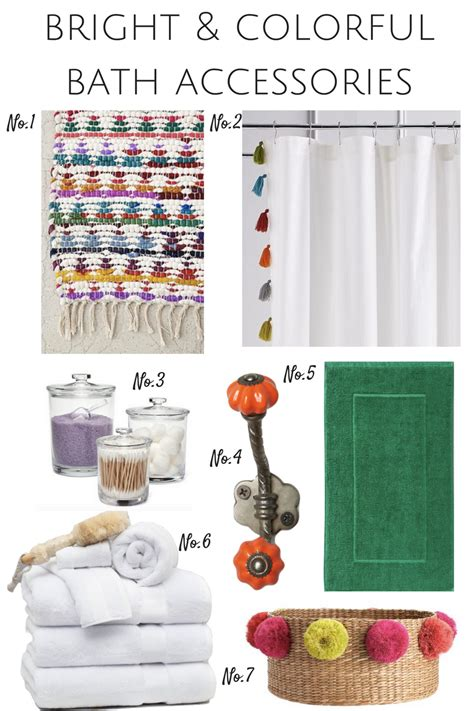 bright bathroom decor bright colorful bath accessories effortless style blog