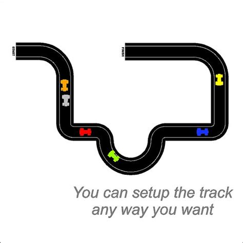 Wall Sticker Cars Track Xy1160 Race Car Tracks Wall Decals Removable Race Track Wall Stickers