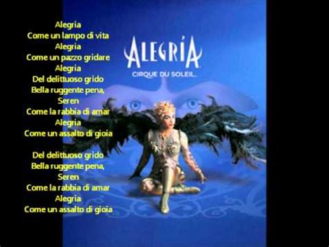 testo alegria alegria cirque du soleil alegria lyrics