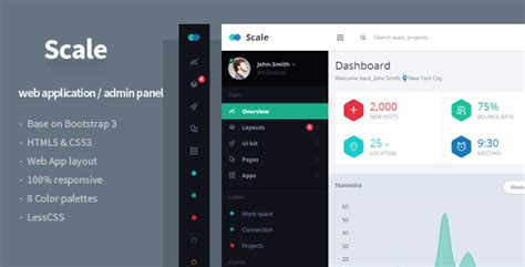 Scale Web Application Admin Template By Flatfull Themeforest Web Application Design Templates