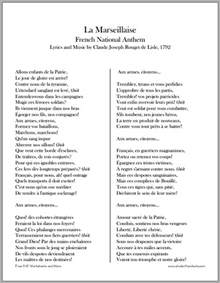 quot la marseillaise quot national anthem lyrics and