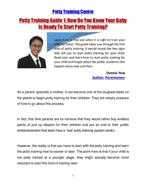 how do you potty your potty guide 1 how do you your baby is ready to start p
