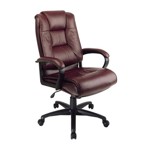 burgundy leather office chair shop office one worksmart burgundy leather executive