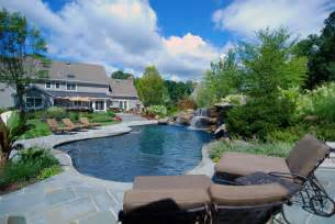 Backyard Pool Landscaping Pictures Landscaping With Pools Home Design And Decor Reviews