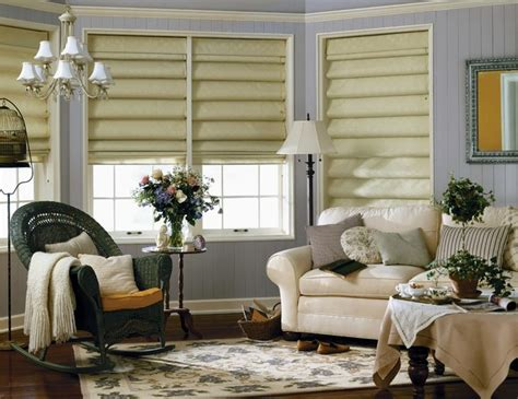 Living Room Shades | graber fresco roman shades traditional living room