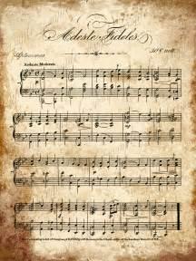 Printable christmas sheet music grungy aged vintage christmas