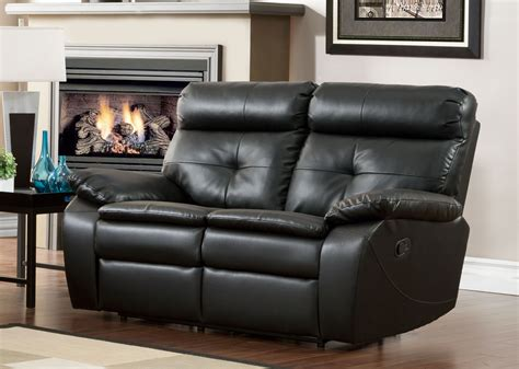 double seat recliner homelegance wallace double recliner love seat black