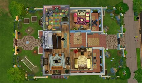 superior modern family house floor plan 4 sims 4