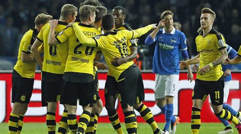 futon dortmund reus scores in 3 0 win bvb to bayern in