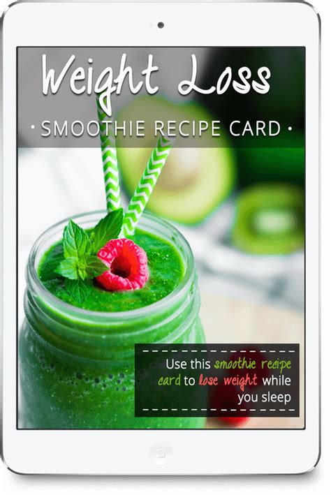 printable weight loss recipes free weight loss recipe card green thickies filling