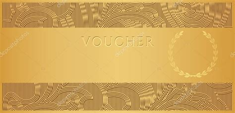 design background voucher voucher gift certificate coupon template with floral