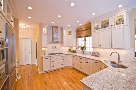 White Springs Granite With White Cabinets white springs granite kitchen tropical with island with