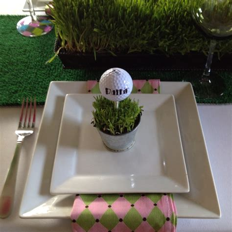 party themes golf golf ball place card at golf party b lovely events
