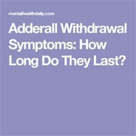 Adderall Detox Symptoms by How To Relieve Fatigue From Adderall Withdrawal Healthy