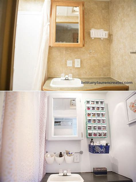 Rv Bathroom Vanity by Before And After Cer Bathroom Makeover Travel Trailer