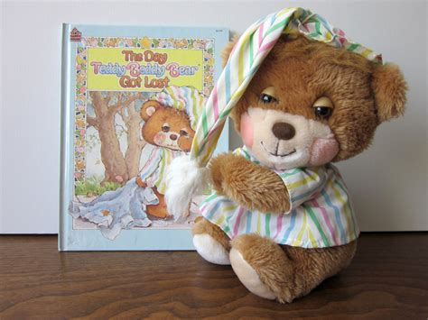 teddy price vintage fisher price teddy beddy plush and book