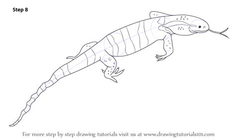 water monitor coloring page learn how to draw a monitor lizard reptiles step by step