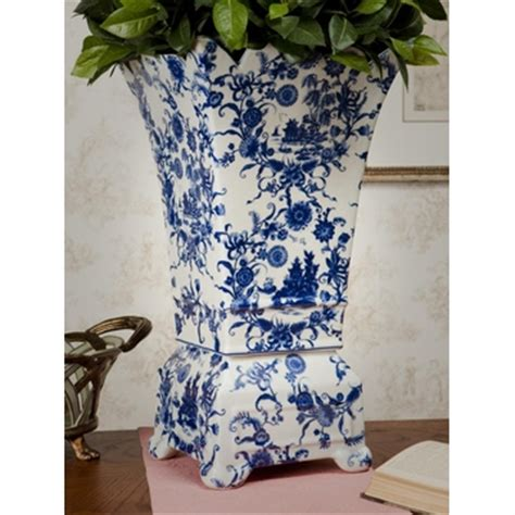 blue and white porcelain planters blue white porcelain planter vase home decor