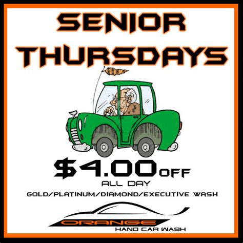 is there a certain day for senior discount at great clips senior citizen discount orange hand car wash