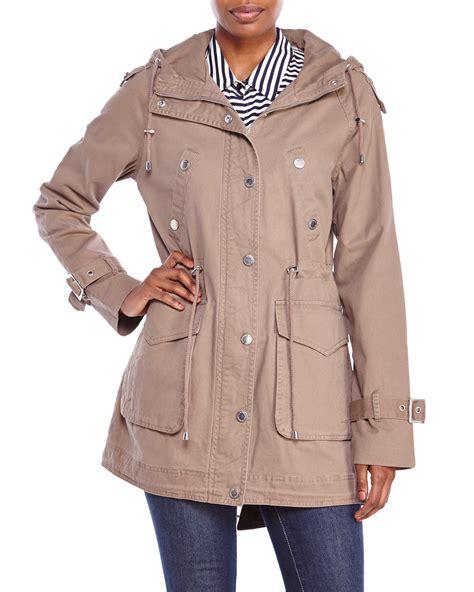 Jacket Semi Kulit 26 lyst bcbgeneration hooded anorak jacket in brown