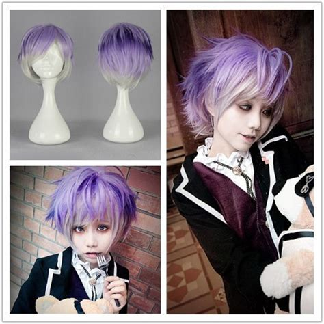 anime hairstyles cosplay mcoser fashion synthetic 32cm men hairstyle diabolik