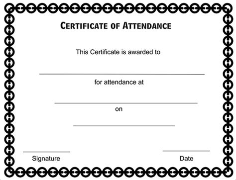 attendance certificate templates 23 free word pdf