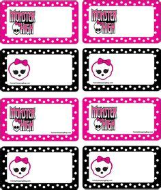 printable monster name tags 1000 images about monster high on pinterest monster