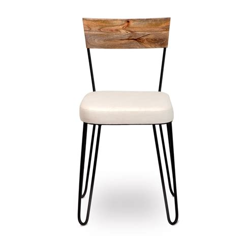 Industrial Chic Dining Chairs Molly Dining Chair Upholstered Industrial Chic Style Furniture Oli Grace
