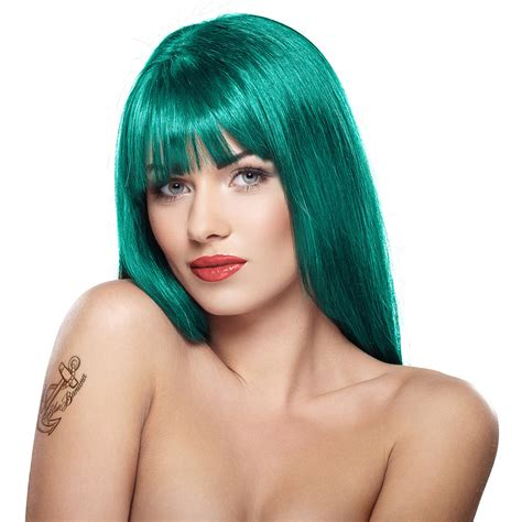 permanent blue hair color stargazer semi permanent tropical green colour hair dye