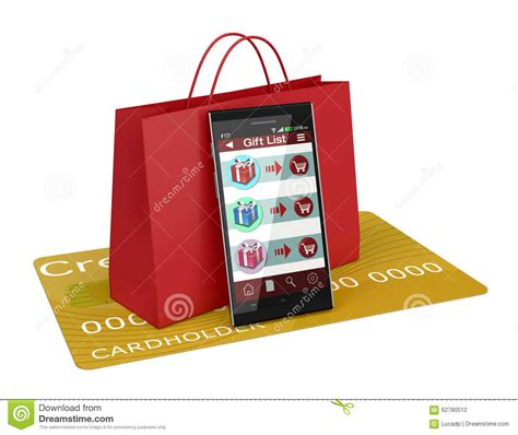gifts on line shopping and gifts stock illustration image 62780512