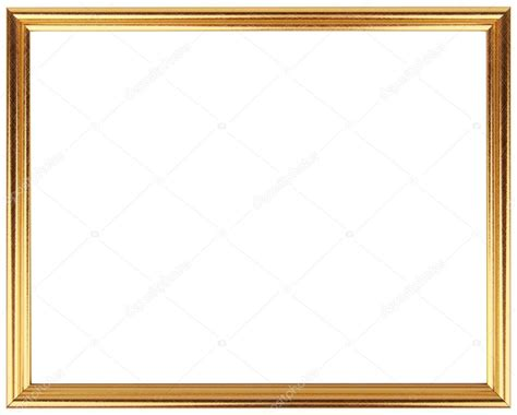 in frame gold vintage frame isolated on white gold frame simple
