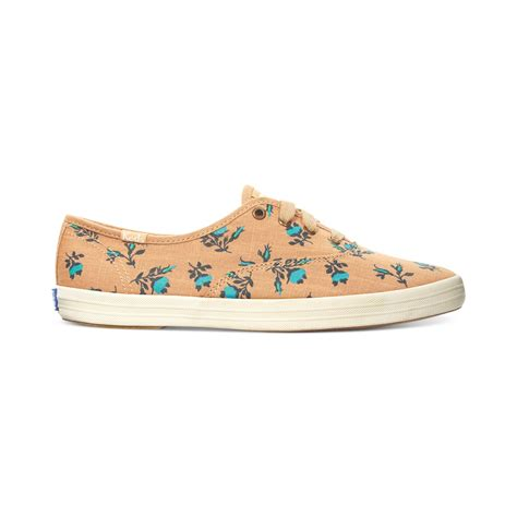 womens keds sneakers keds womens chion floral sneakers in orange floral