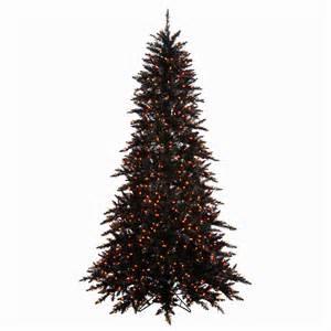 black tree lights black tree pre lit 6 5 black fir tree w 600