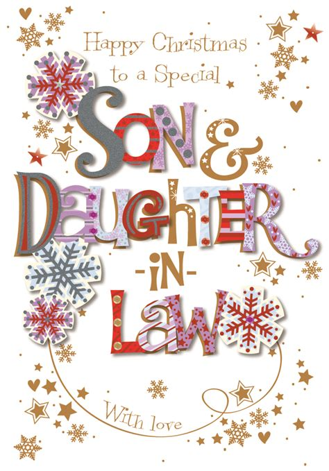 son daughter  law christmas greeting card cards love kates