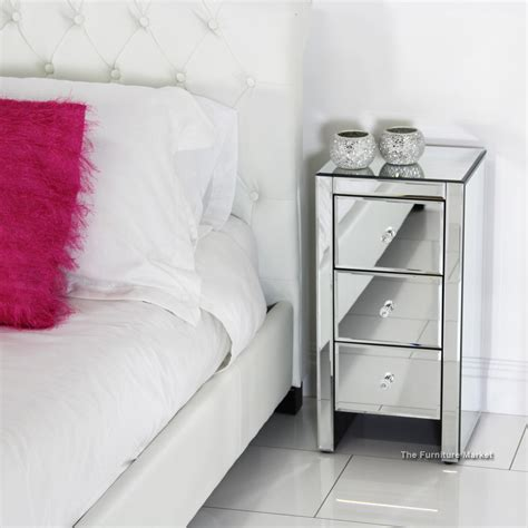 Decorating Ideas Your Bedside Table Contemporary Glossy White Narrow Bedside Table Design