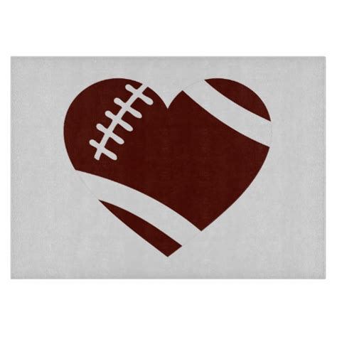 Decorative Hearts For The Home by Football Heart Cutting Board Zazzle