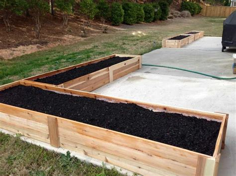 proper wood    vegetable garden bed  home