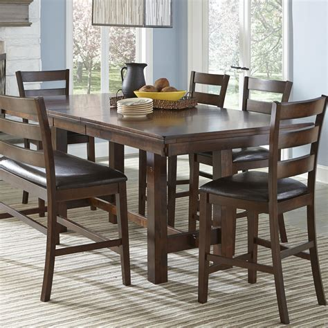 Amish Kitchen Furniture Intercon Kona Counter Height Table With Leaf Wayside