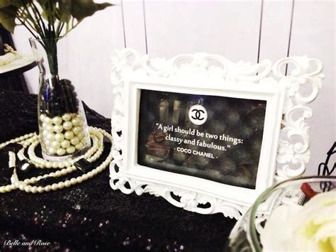 Chanel Inspired Home Decor Chanel Inspired Bridal Shower Via Kara S Ideas Karaspartyideas Cake Decor Printables
