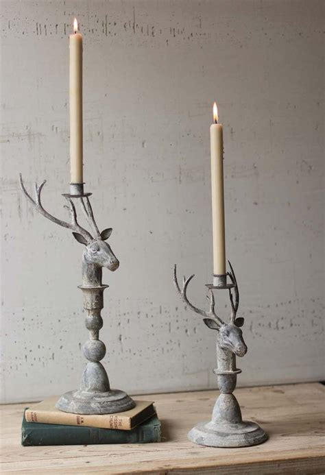 rustic metal candle holders home lighting design ideas