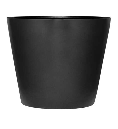 blumentopf schwarz im greenbop shop kaufen - El Blumentopf