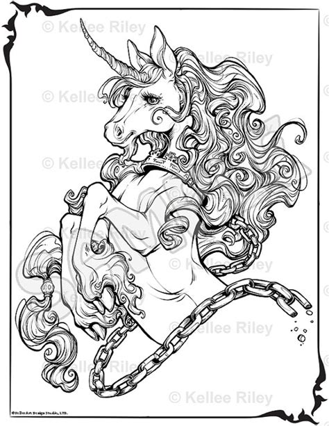 free printable coloring pages for adults unicorns unicorn adult coloring pages by kelleeart on etsy art