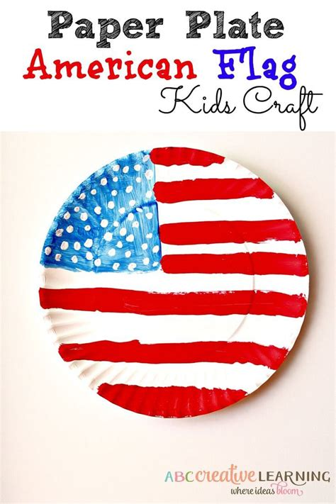 American Paper Crafts - paper plate american flag craft paper plate crafts