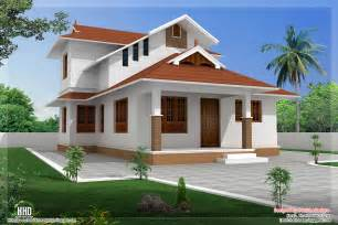 Home Design Roof Plans by 1364 Sq Feet Sloping Roof Villa Design House Design Plans