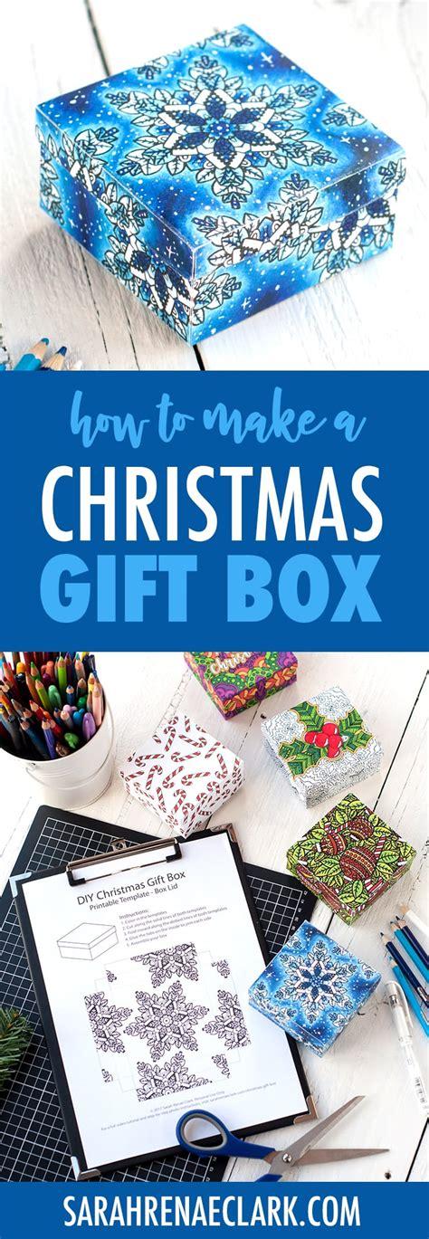 how to make a christmas gift box printable template and