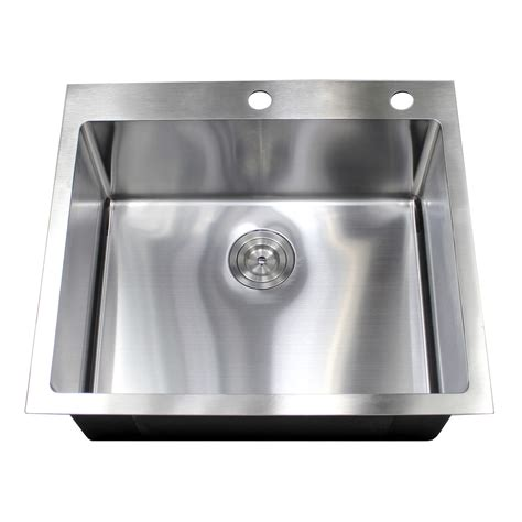 10 inch bar sink 25 inch drop in top mount stainless steel single bowl